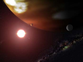 Giant World Orbiting Red Dwarf Star Gliese 876