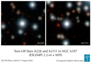 Turn-Off Stars A228 und A2111 in NGC 6397
